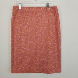 Talbots Pencil Skirt Coral & Yellow Floral